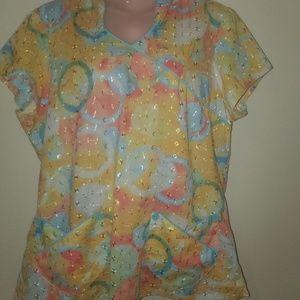 nurses blouse size L